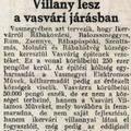 873. Villany lesz a vasvári járásban