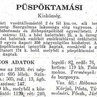 546. Püspöktamási 1931-ben