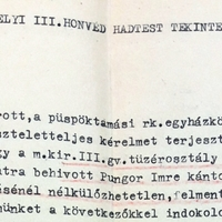 981. Kérelem Pungor Imre felmentésére a katonai szolgálat alól