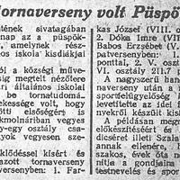 51. Tornaverseny Püspökmolnáriban 1957-ben