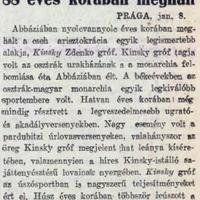 892. Gróf Kinsky Zdenkó halála