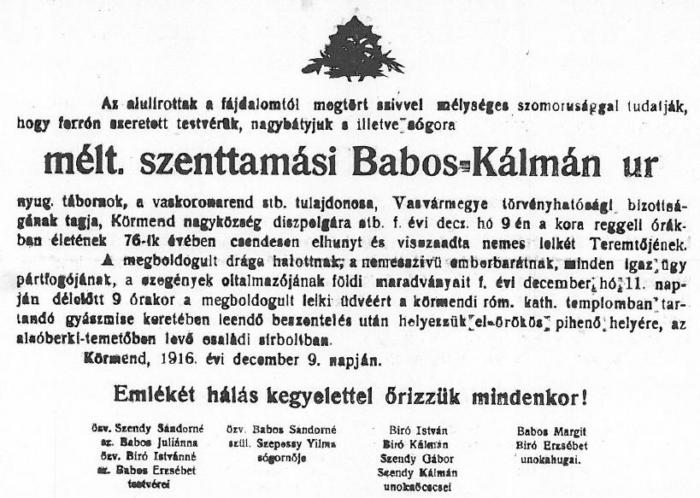 szenttamási Babos Kálmán gyászbeszéde.JPG
