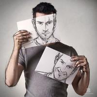 A rajz és a fotó tökéletes kombinációja a legjobb önarcképekért!