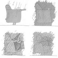 CubeMan és az eső