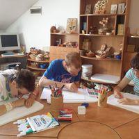 Autista fiatalok rajzai a Papp László Budapest Sportarénában