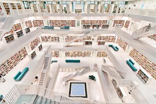 Különleges épületek a világban - Stuttgarti Központi Könyvtár