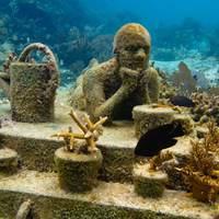 Művészet a természet védelméért: Víz Alatti Művészeti Múzeum, Cancun