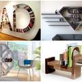 15 különleges könyvespolc a kreatív lakberendezés jegyében