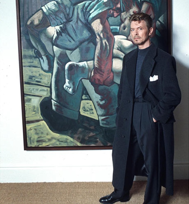 Bowie Peter Howson Croatian and Muslim (1994) című képével<br />Fotó: Richard Young/Rex Features.