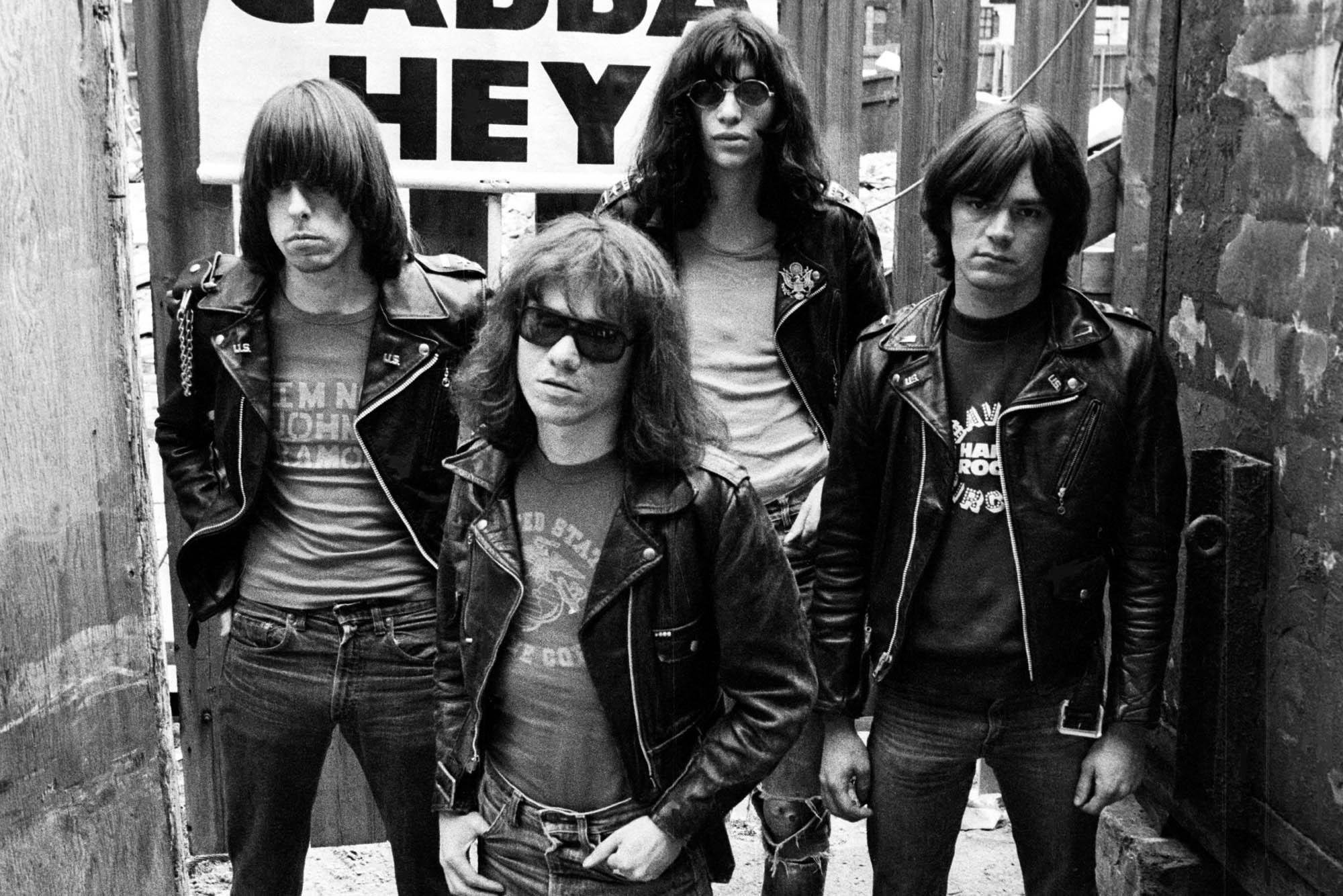 A Ramones 1977-ben. Fotó: Danny Fields