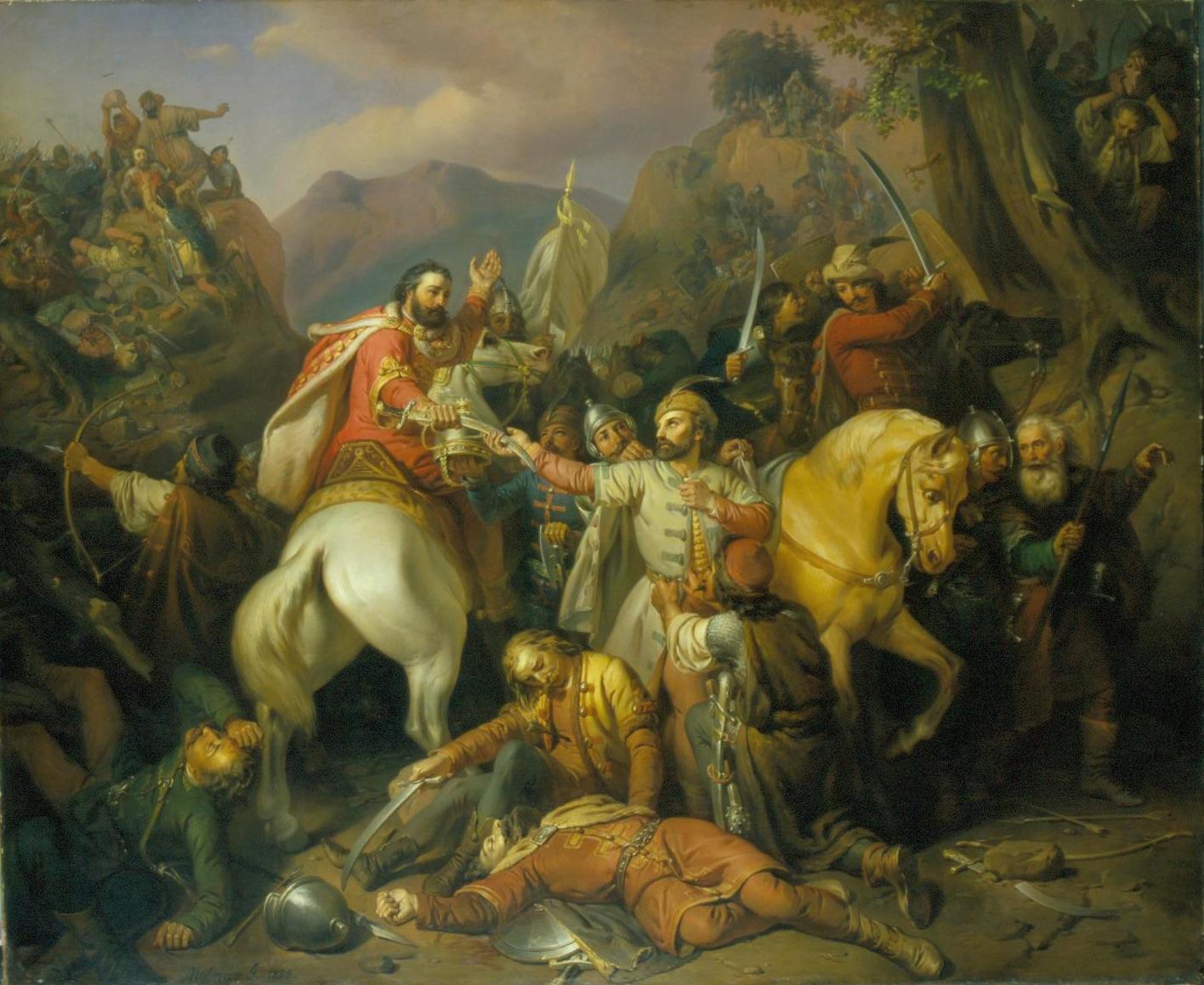 Molnár József: Hédervári Dezső lovag megmenti Károly Róbertet a posadai csatában