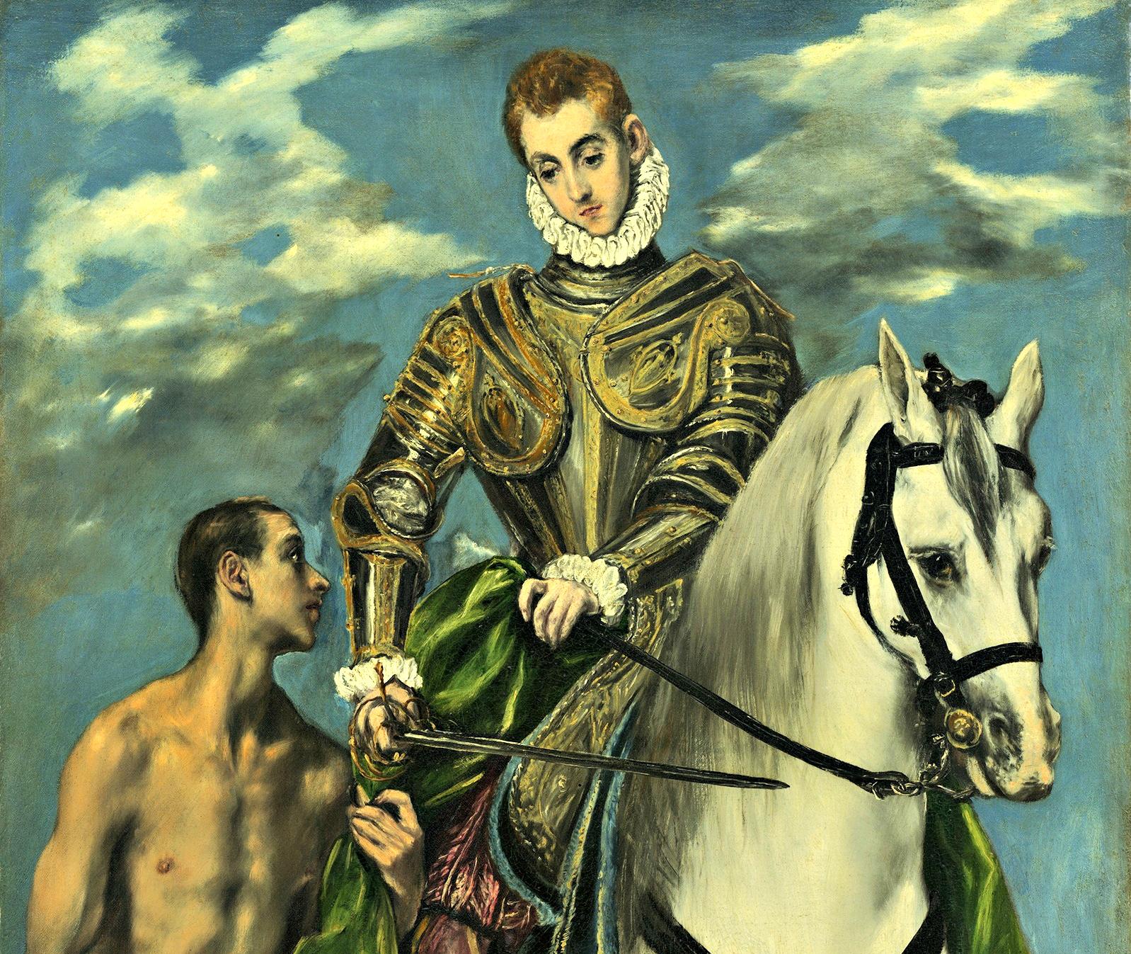 El Greco: Szent Márton és a koldus (részlet)