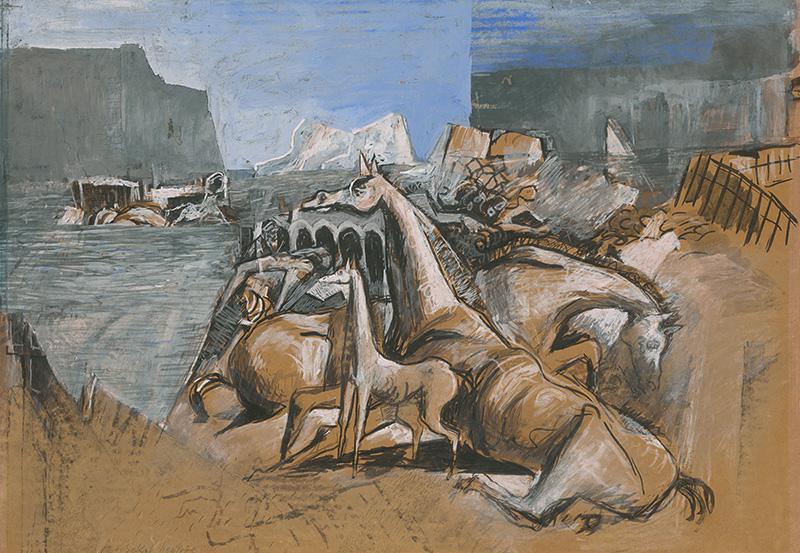 Koloman Sokol: Özönvíz, 1946, Szlovák Nemzeti Galéria
