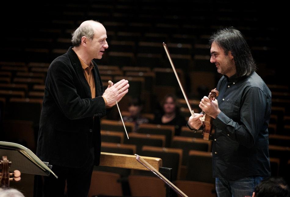 Fischer Iván és Leonidas Kavakos Fotó: Kurcsák István