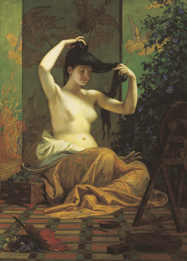 Székely Bertalan: Japán nő –1871, Szépművészeti Múzeum, Magyar Nemzeti Galéria