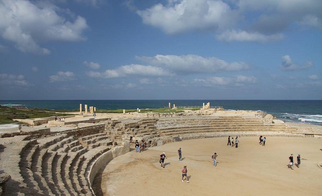 Caesarea romjai a római színházzal