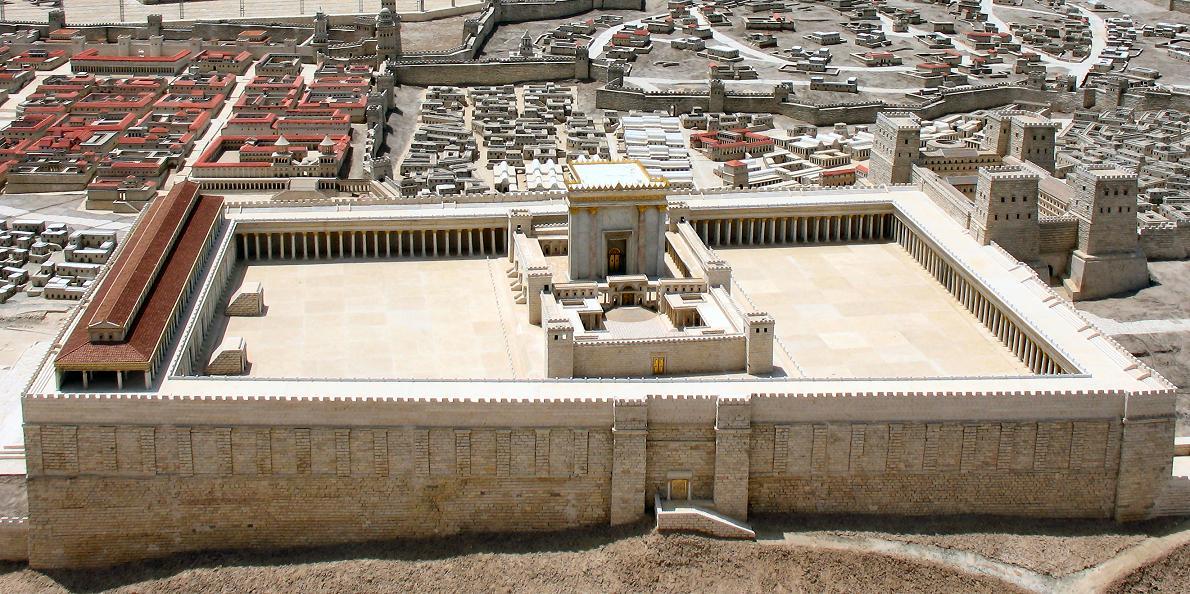 A jeruzsálemi templom makettje. Fotó: James Emery