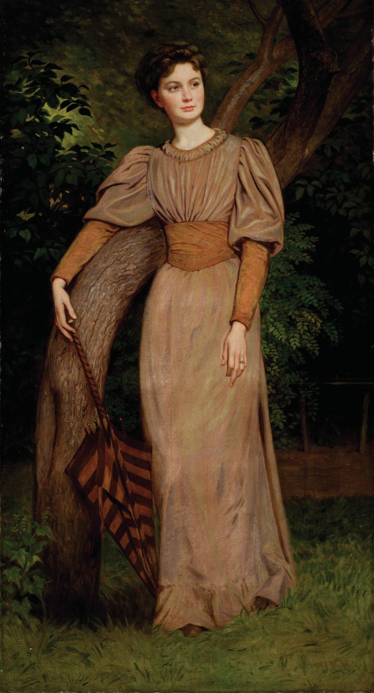 SZÉKELY Bertalan (1835-1910): Székely Zseni képmása (1880 körül) olaj, vászon, 189 x 102 cm jelzés nélkül, Kovács Gábor Gyűjtemény