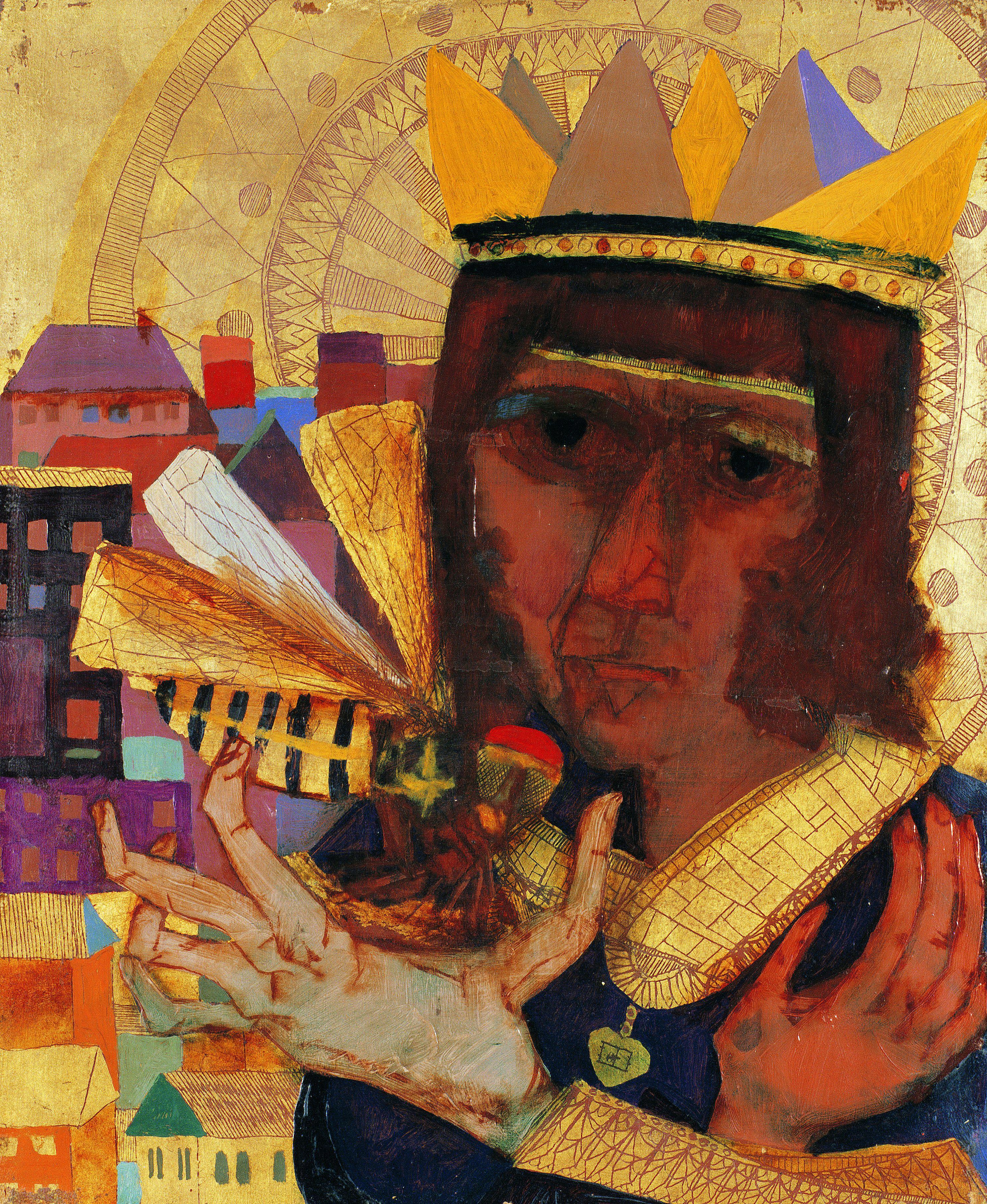 Darázskirály (1963) olaj, vászon, 34 x 27 cm, Xántus János Múzeum, Patkó Imre Gyűjtemény