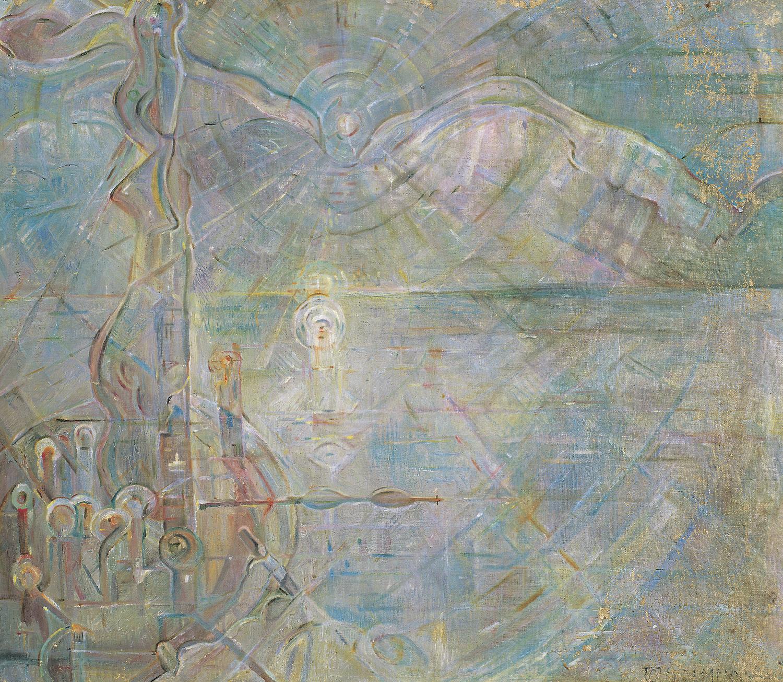 Tóth Menyhért: A vízenjáró (Vadvizek), 1940-es évek Olaj, vászon