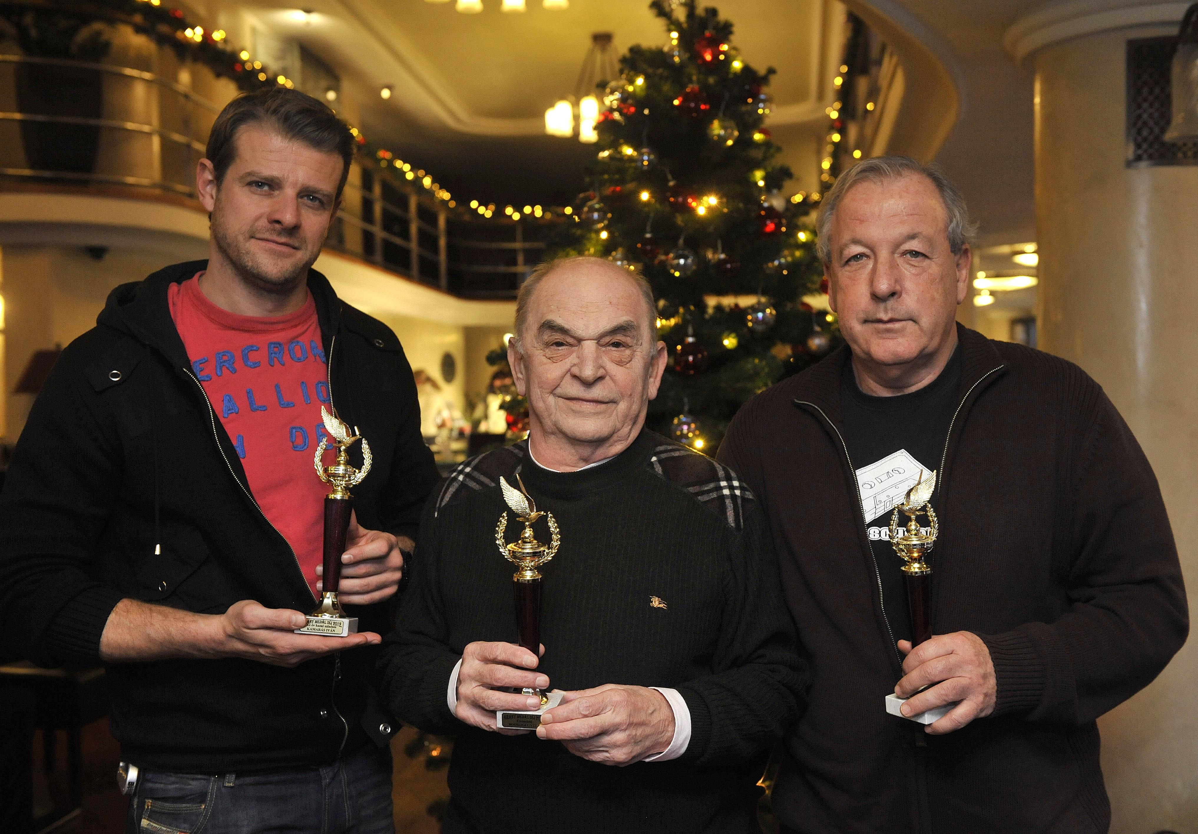 Kamarás Iván, Bodrogi Gyula és Vámos Miklós, a 2012. évi Arany Medál-díjak kitüntetettjei Fotó: Bruzák Noémi