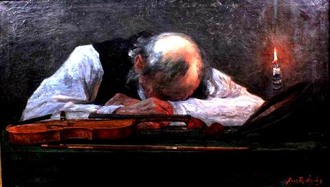 Feszty Árpád: Az alvó prímás