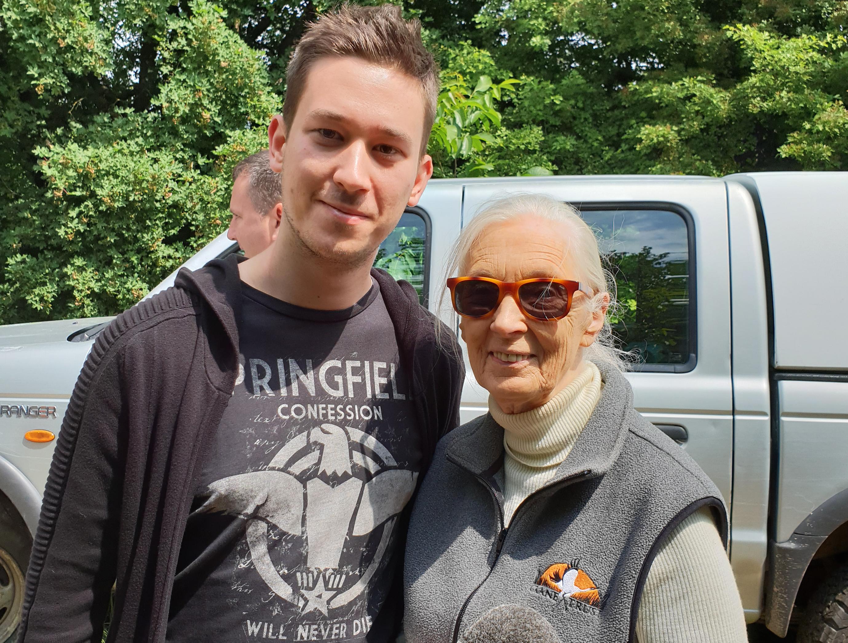 Szerzőnk és Jane Goodall
