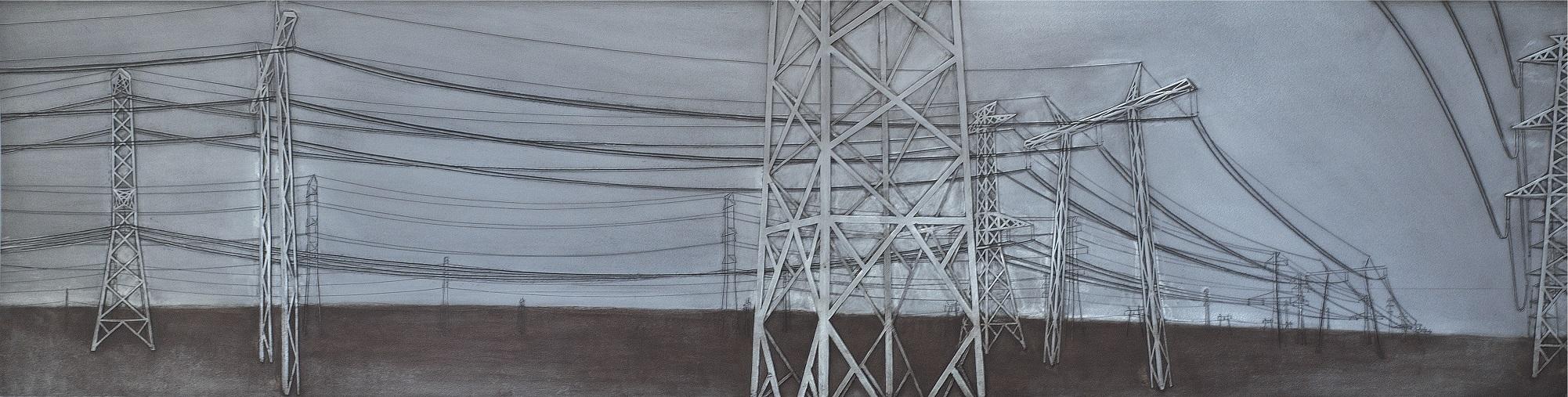 NÉMETH MARCELL  (1982):  Tájkép  I. 2010,  Vaslemez    50 × 200 ×  0,4  cm
