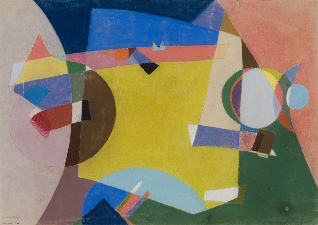 GERZSON PÁL (1931 - 2008):  Kompozíció 1975, Olaj, vászon  80,5  ×  129  cm