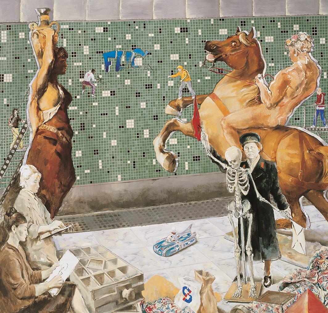 KÓSA JÁNOS (1964): Akadémia 2007, Olaj, vászon   190  ×  200  cm