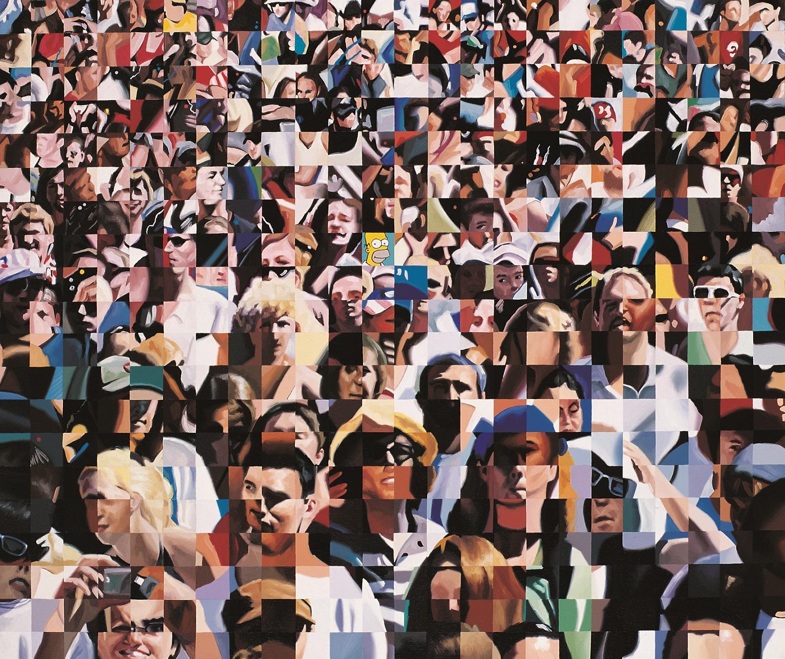 KISS  ENDRE  (1980):  Közönség  2008, Olaj, vászon    50  ×  60  cm