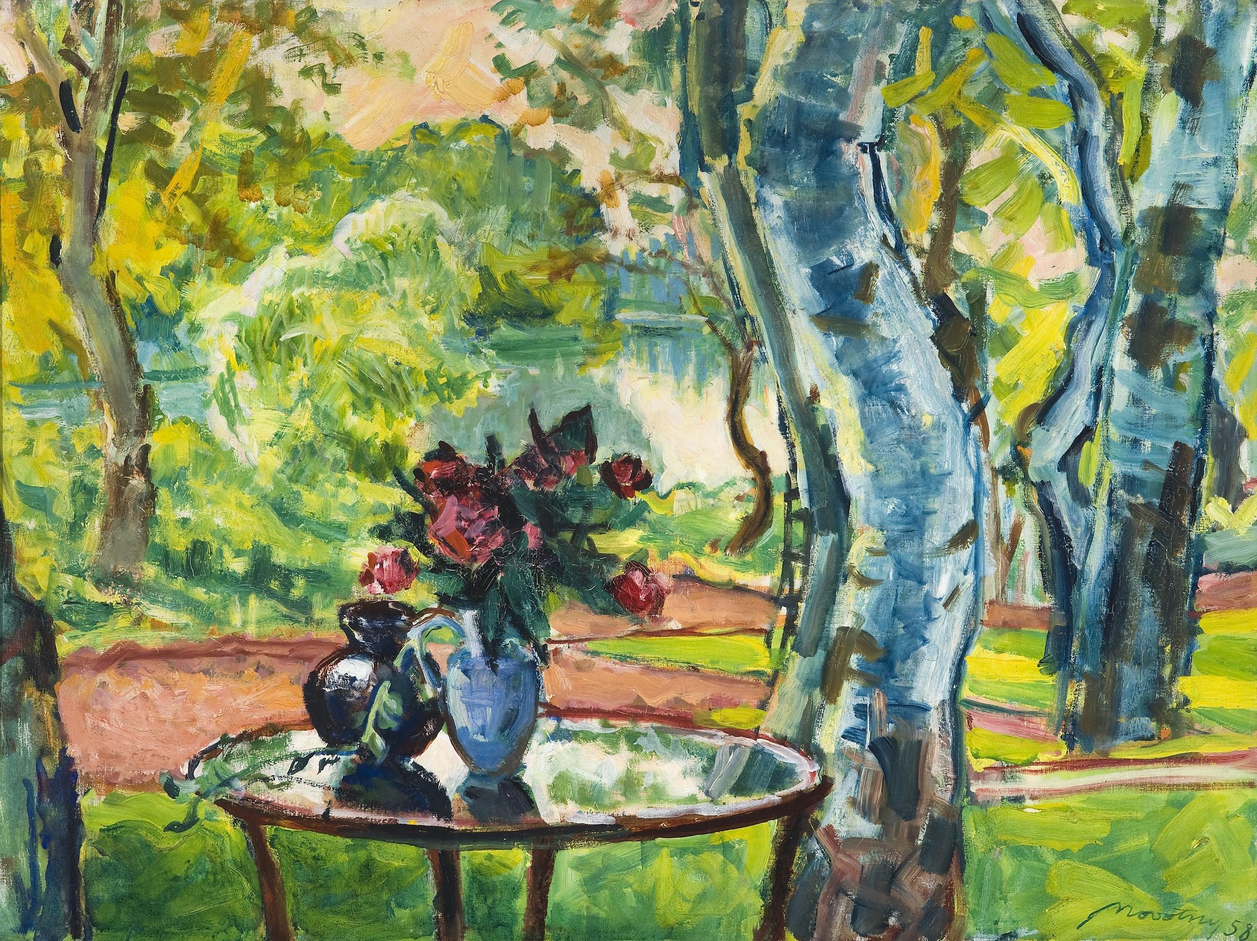 Novotny Emil Róbert:  A művésztelep teraszáról