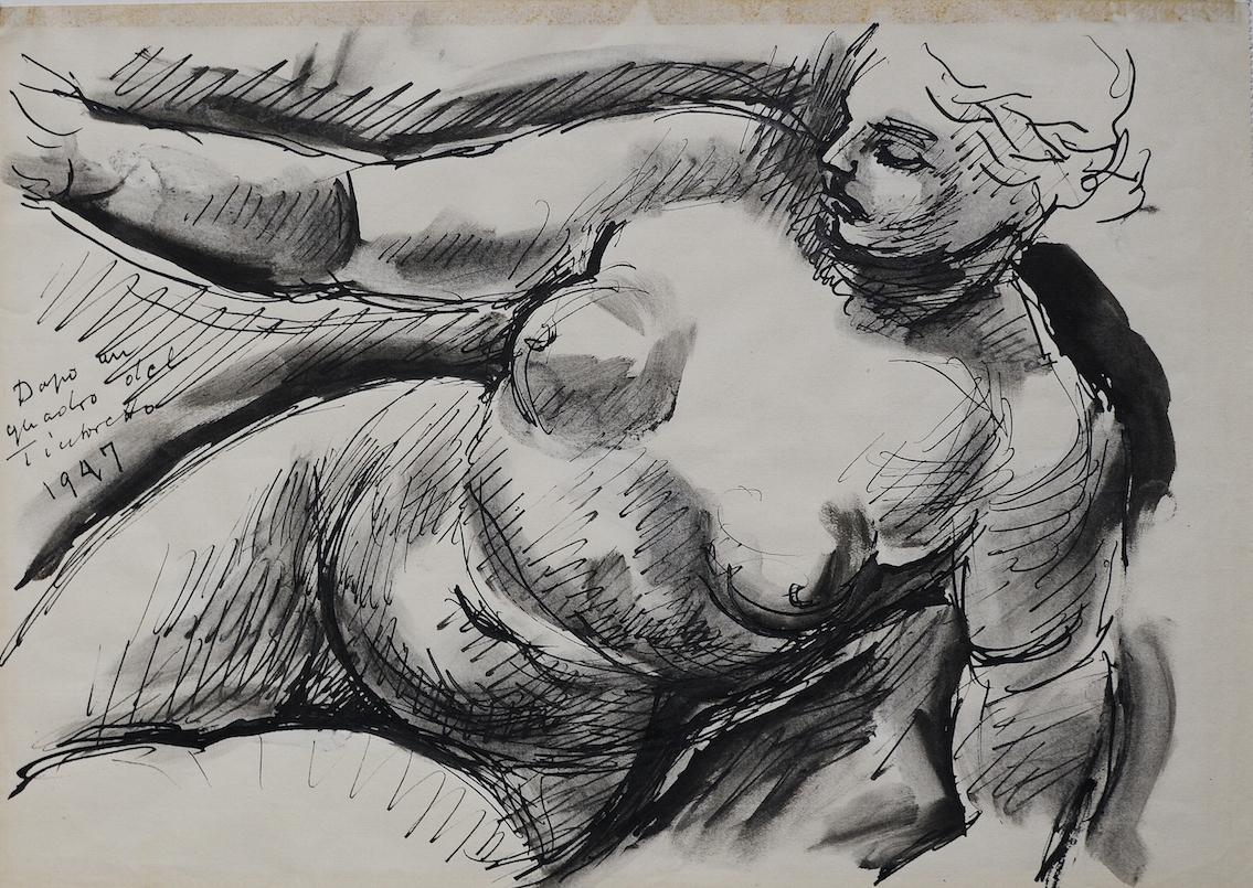 Női akt, 1947, A Ferenczy Család Művészeti Alapítvány tulajdona