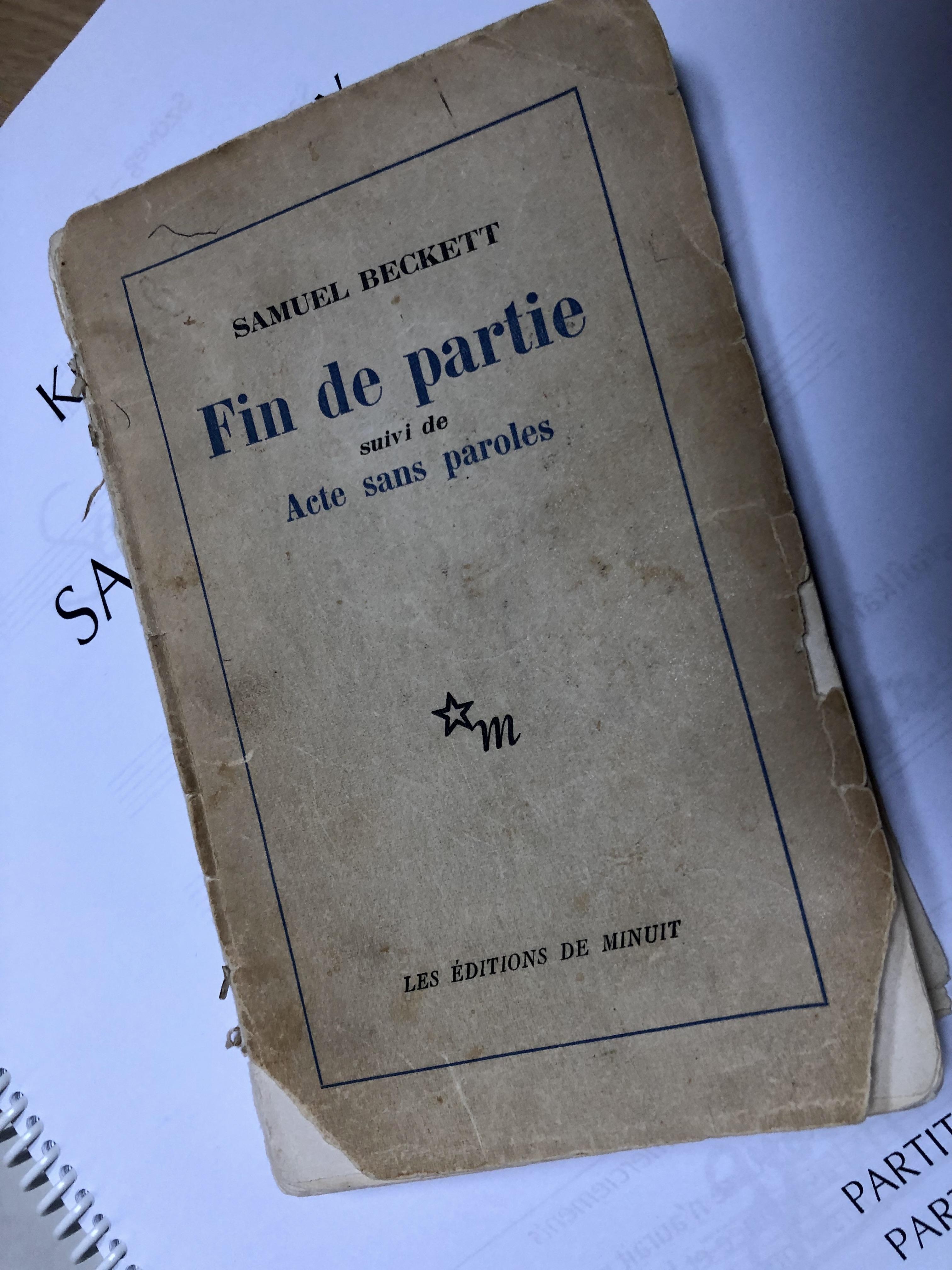 A Beckett-darab első kiadása, Kurtág György tulajdona
