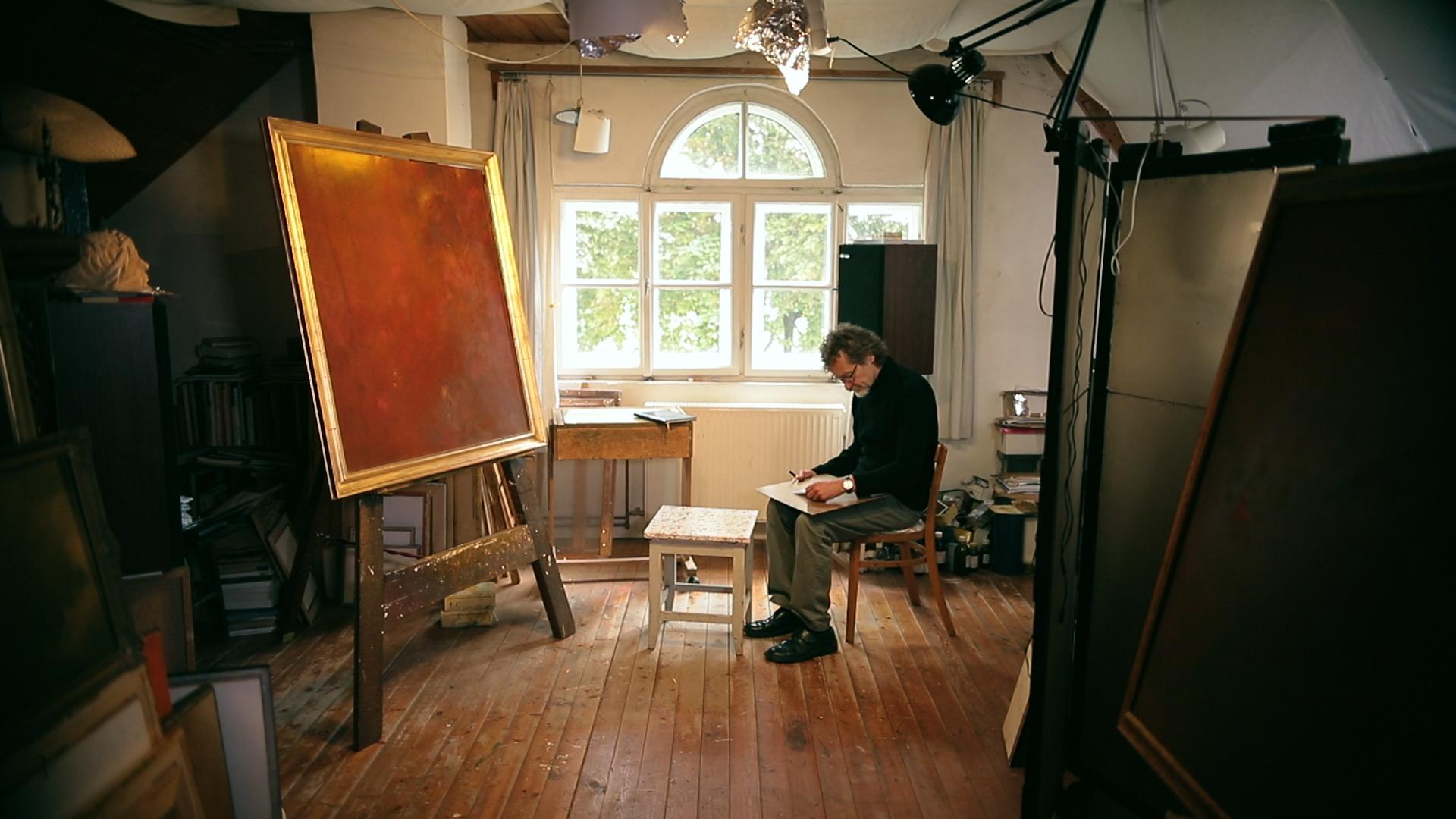 Kárpáti Tamás a műtermében