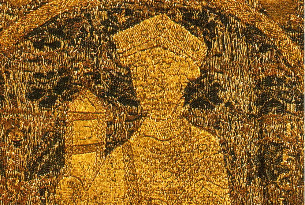 Giella portréja a koronázási paláston