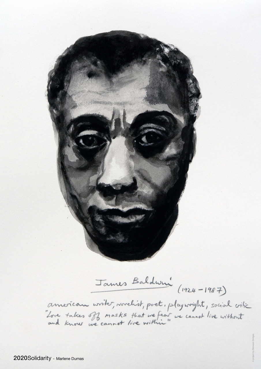 Marlene Dumas: 'James Baldwin (from the series Great Men)' 2014, Offset print on paper, 59,4 cm x 42 cm (23.4 x 16.5 in)