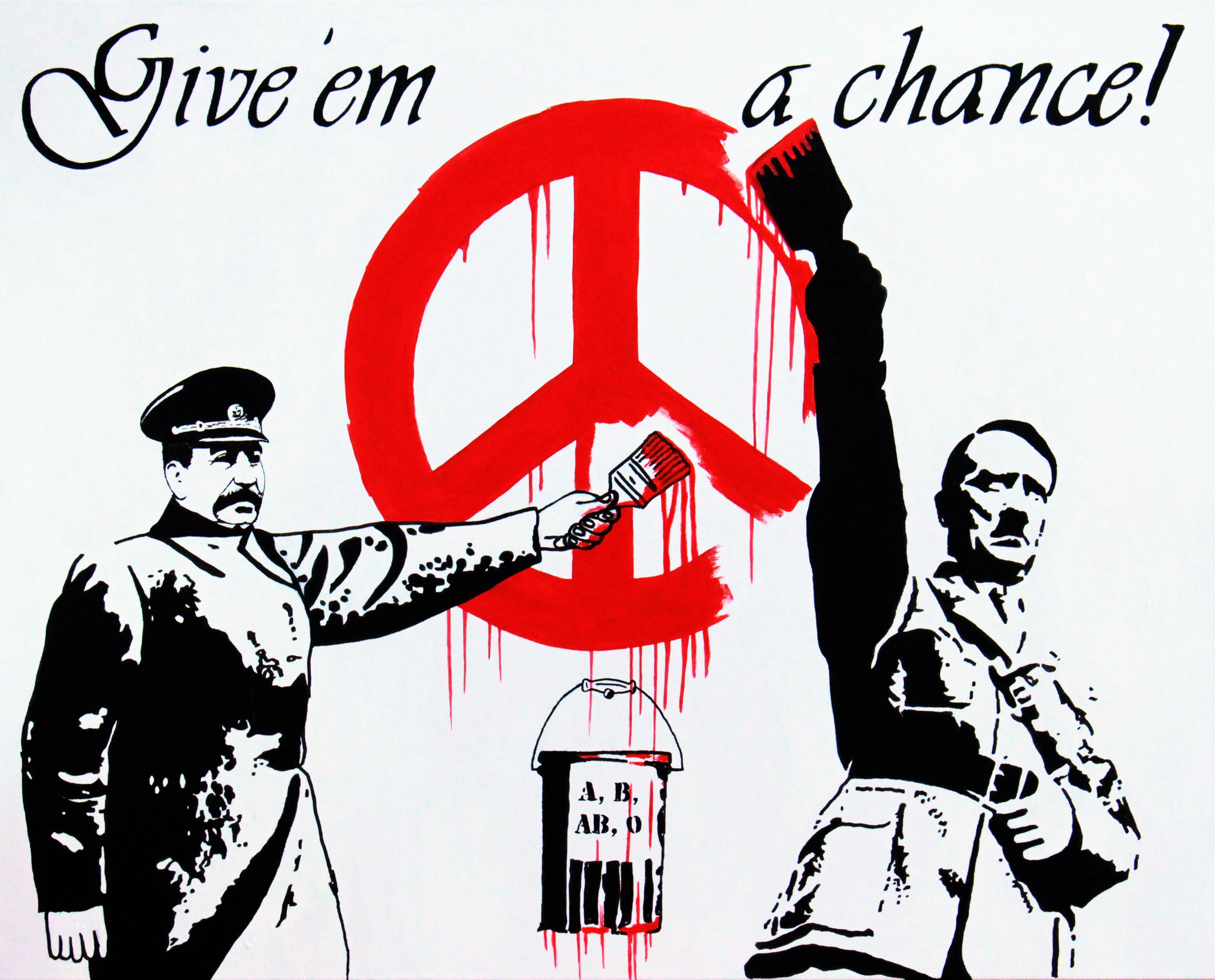 Beatles rajongók graffitiznek Banksy műtermében (A kép közlése a művész hozzájárulásával történt.)