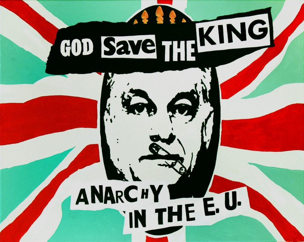 Anarchy in the E.U.<br />80x100, akril, vászon, 2020