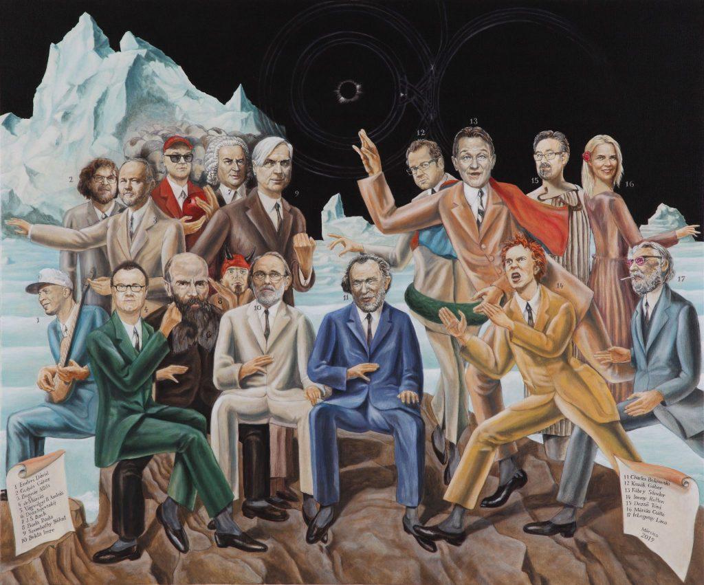 Baráti találkozó Max Ernst műtermében<br />100x120, giclée print, vászon, 3/3, 2019