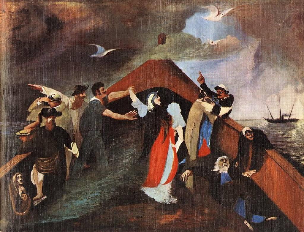 Csontváry Kosztka Tivadar: Hajótörés* (1903, olaj, vászon – magántulajdon)