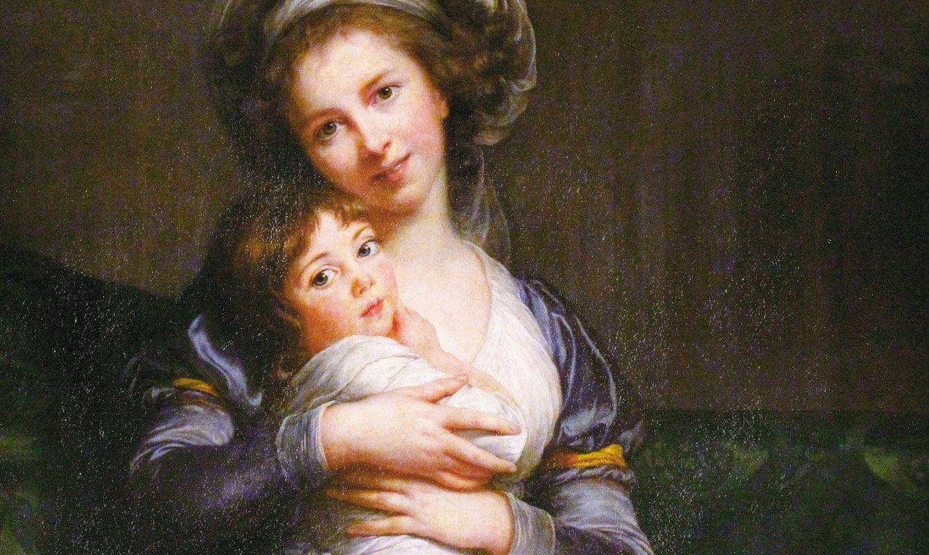 Louise Élisabeth Vigée Le Brun: Önarckép lányommal, Julie-val, 1786.