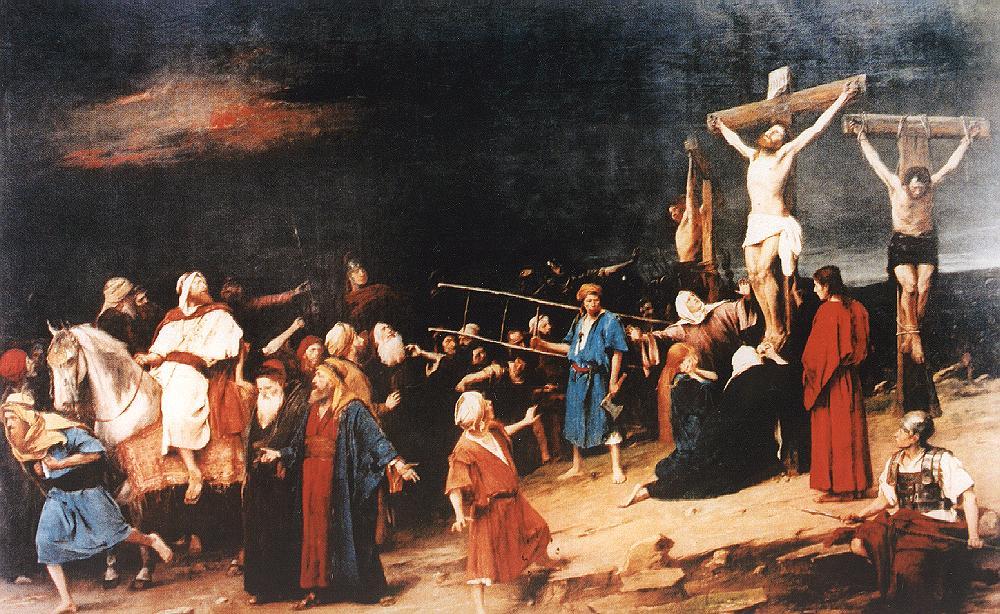 Munkácsy Mihály: Golgota – 1884. olaj, vászon, 460 x 712 cm, Déri Múzeum, Debrecen