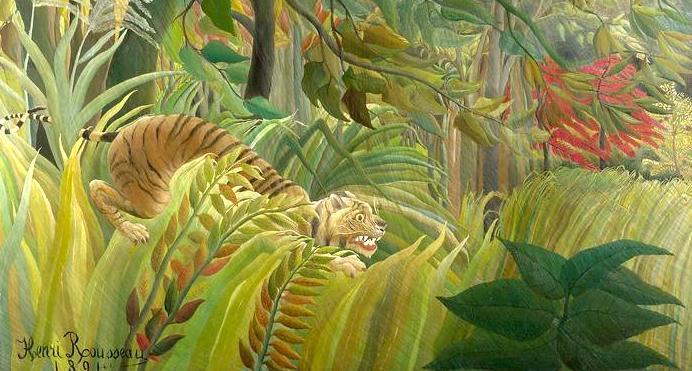 Henri Rousseau: Tigris a trópusi viharban