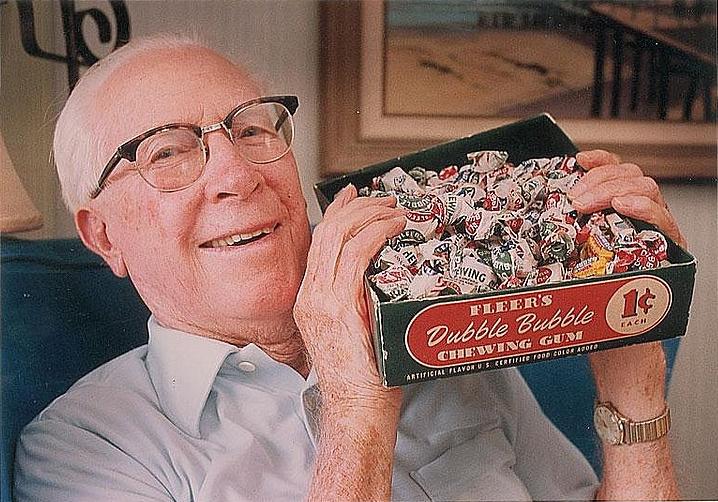 Walter Diemer és egy doboz Dubble Bubble
