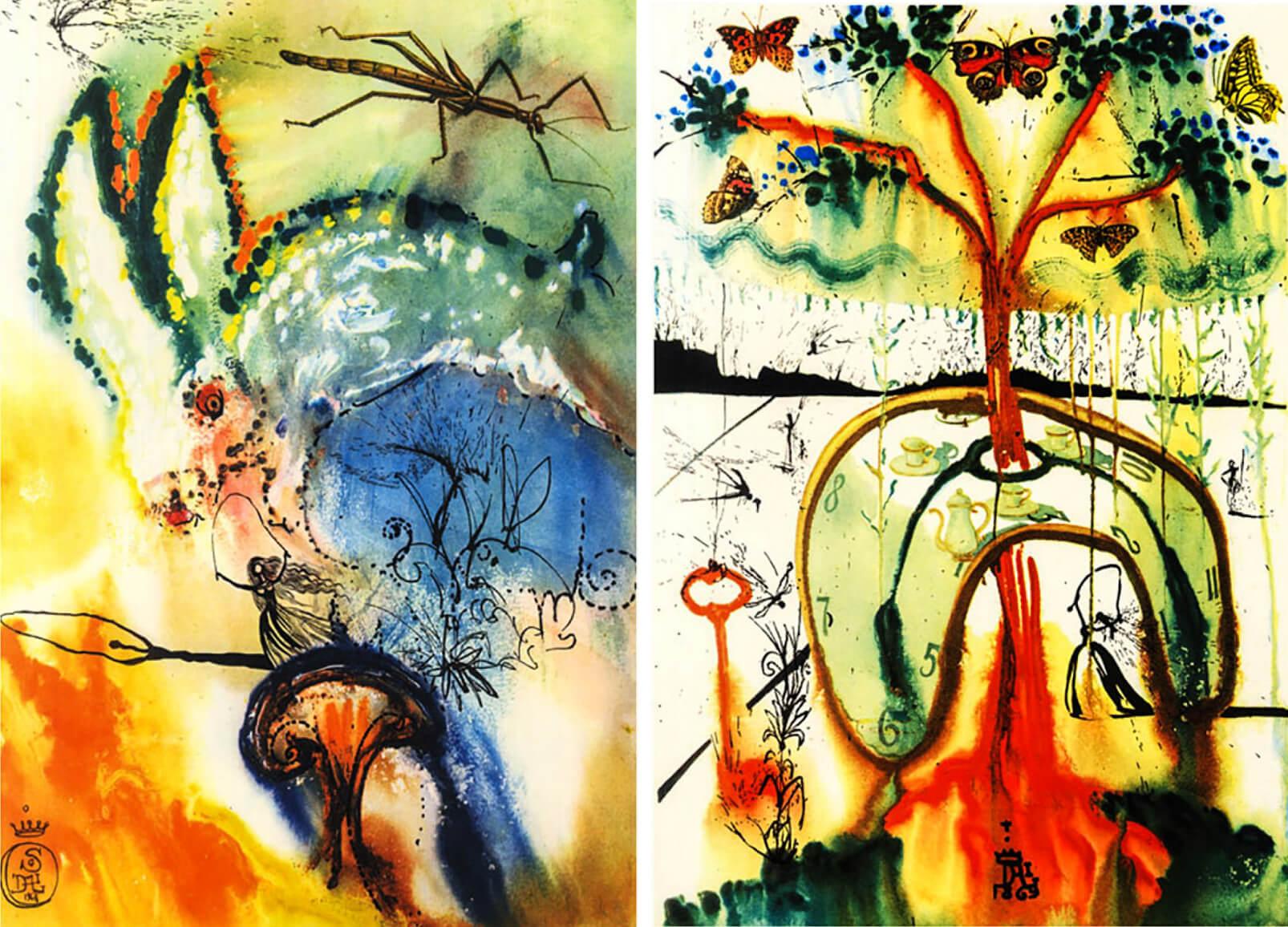 Salvador Dalí illusztrációi magukon viselik a szürrealizmus jellegzetes vonásait
