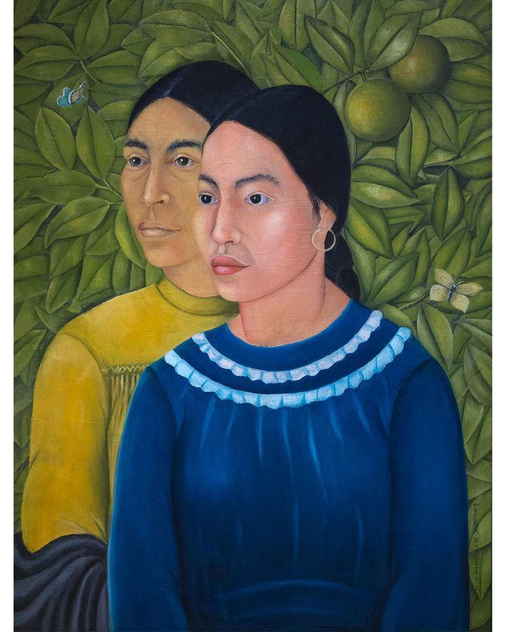 Frida Kahlo: Két Nő, 1928, (Portrait of Salvadora and Herminia) (Credit: Alamy)