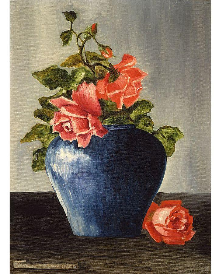 Csendélet (Rózsákkal), 1925, (Magángyűjtemény. Courtesy Sotheby's, New York)