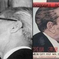 Ráncfelvarrás a csókolózó Brezsnyeven és Honeckeren