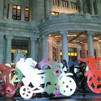 Óriási bicikliszobrok lepték el New Yorkot